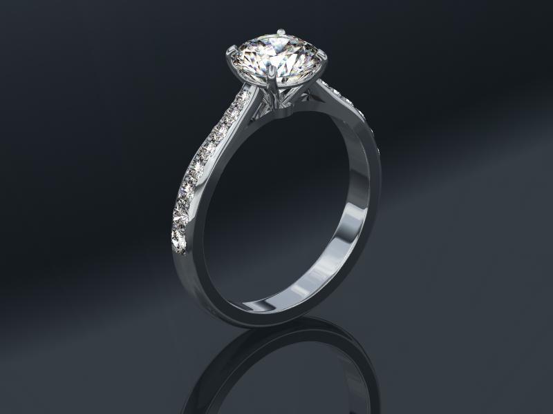 0.90 carat Round Brilliant Diamond