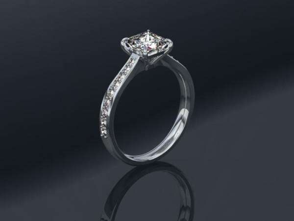 1.06 carat Princess Cut Diamond