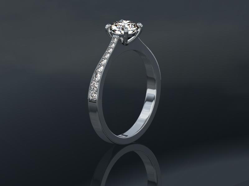 0.72 carat Princess Cut Diamond