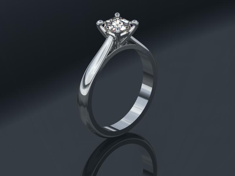 Princess Cut Diamond. 0.94 carat H VS2, GIA Certified